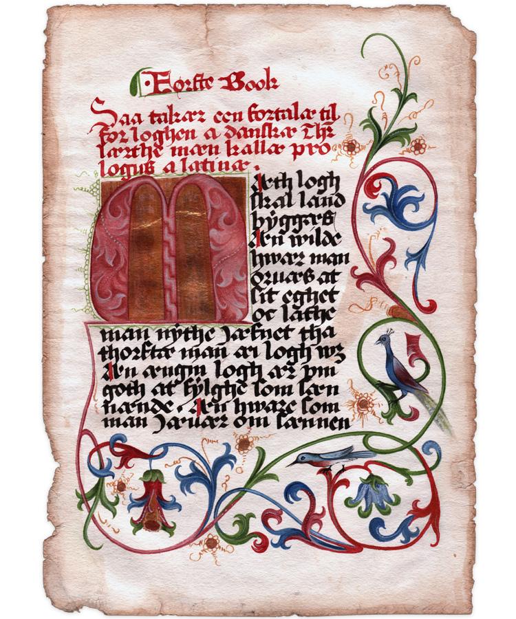 Første Danske manuskript er færdig