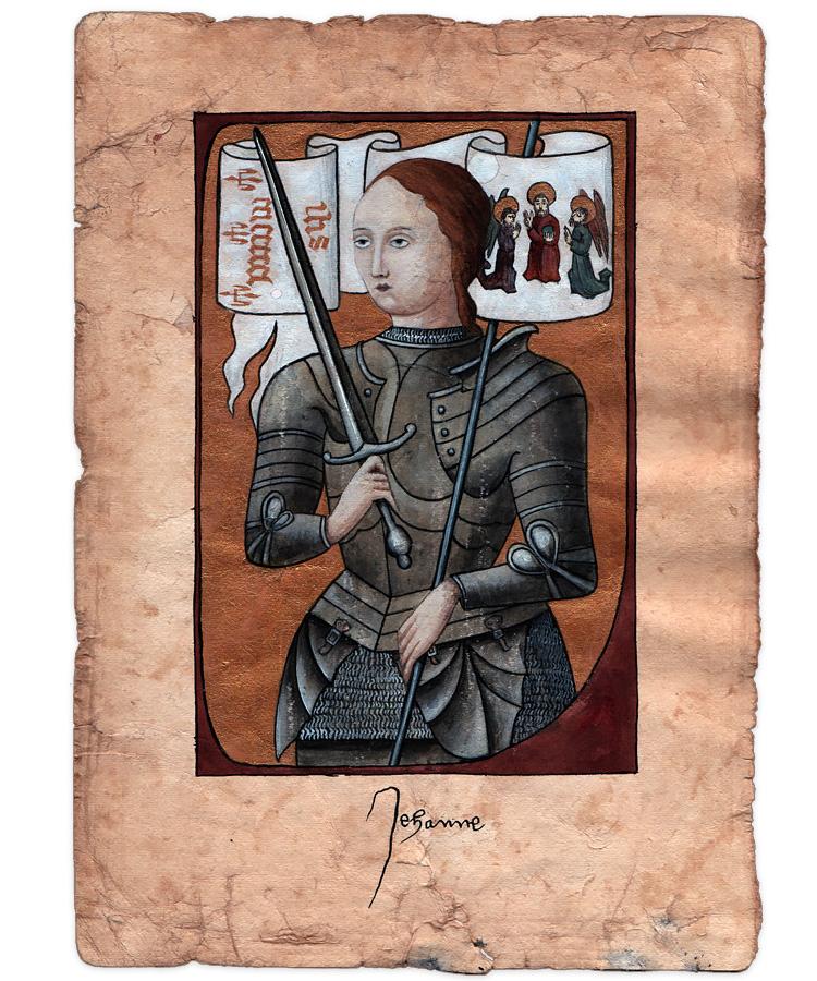 Serien med Jeanne d'Arc er færdig malet