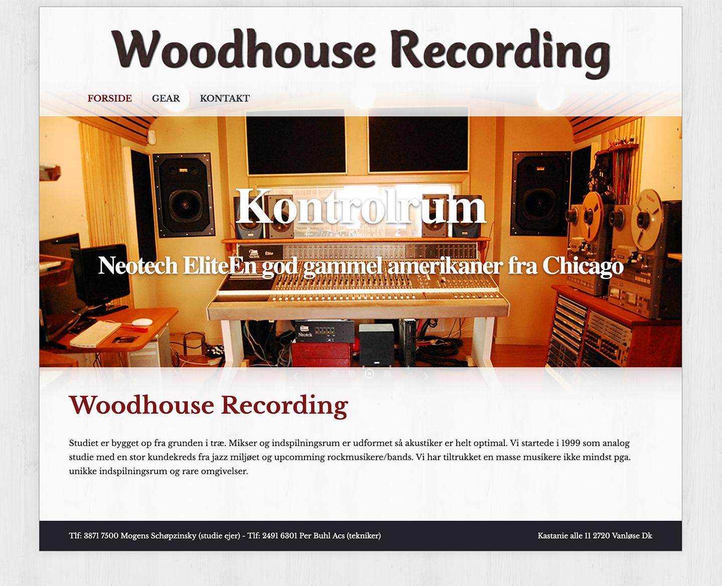 Web design – Woodhouse Recording