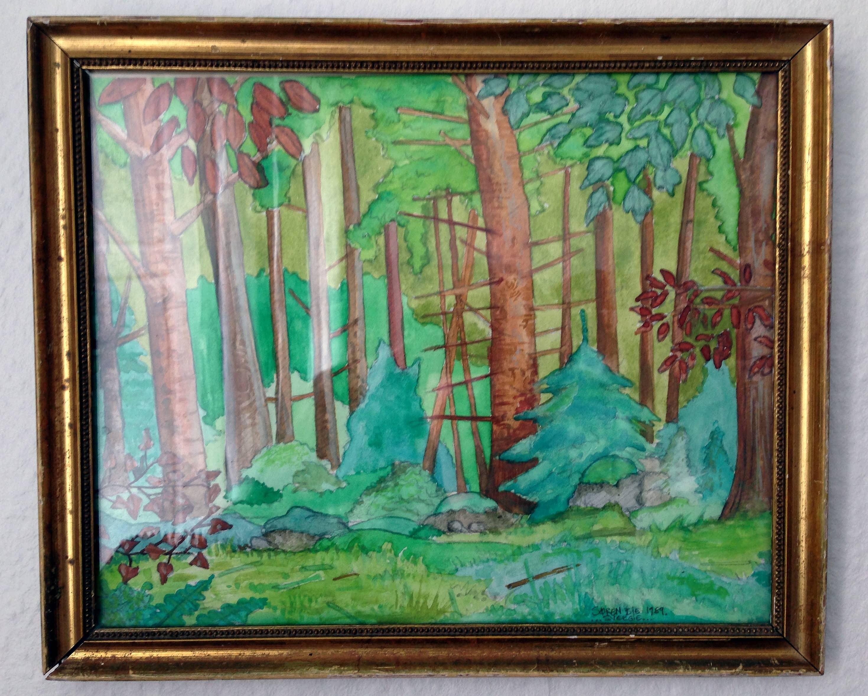 Gamle akvareller malet i Sverige 1991
