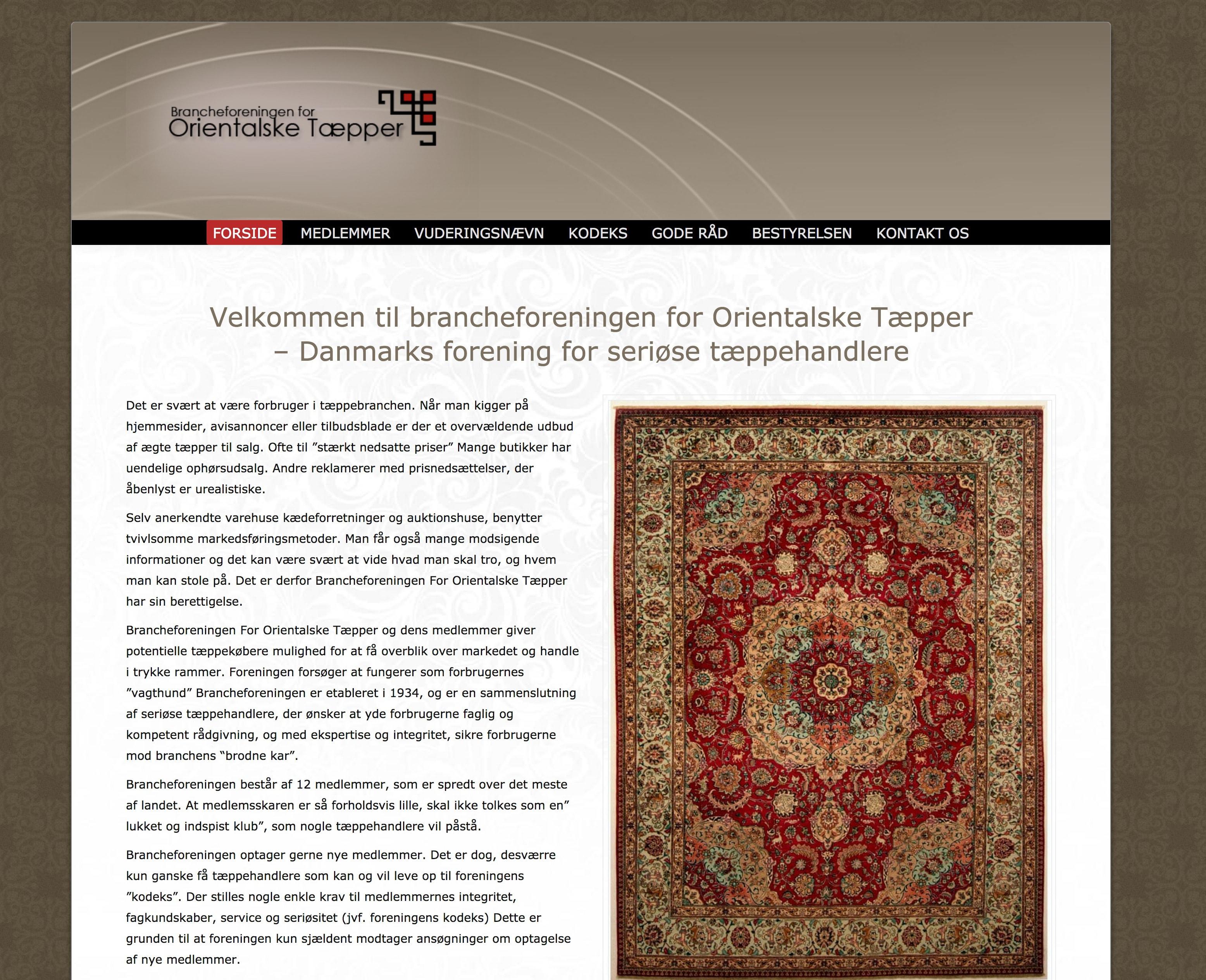 www.Taeppebranche.dk